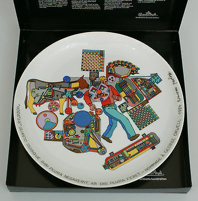 Rosenthal artist plates No. 20 Paolozzi 1984 - Tribute to a George Orwell