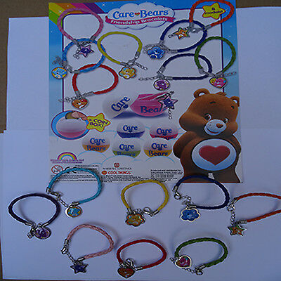 Care Bears friendship bracelets from toy vending capsules 8 models to choose