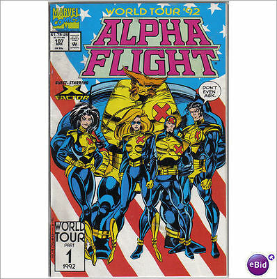 Marvel Comics Alpha Flight #107 April 1992 X-Factor NM-