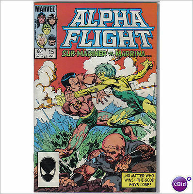 Marvel Comics Alpha Flight #15 October 1984 Sub Mariner VF+