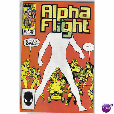 Marvel Comics Alpha Flight #25 August 1985 Return Of The Guardian VF+