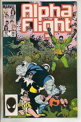 Marvel Comics Alpha Flight #30 January 1986 F+