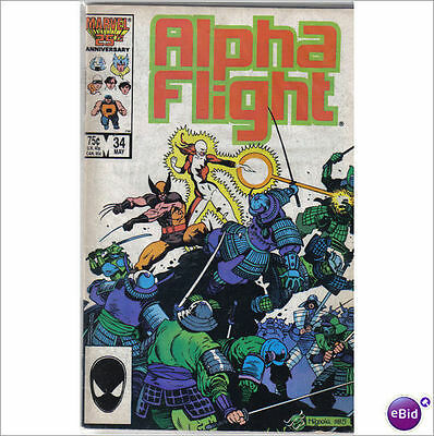 Marvel Comics Alpha Flight #34 Origin Of Wolverine 2nd Lady Deathstrike VF