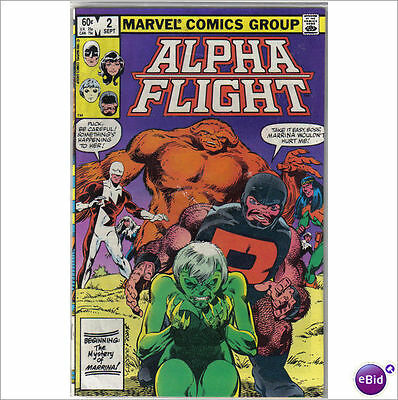 Marvel Comics Alpha Flight #2 September 1983 VF+