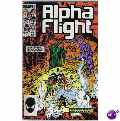 Marvel Comics Alpha Flight #24 July 1985 VF+