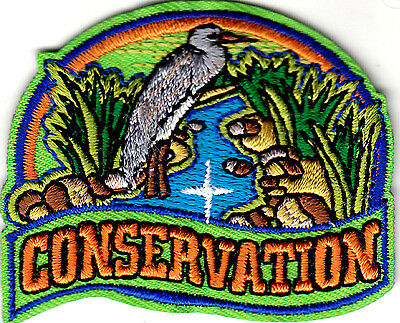 """""""conservation"""" - Iron On Embroidered Patch - Universe, World, Earth, Wildlife"""