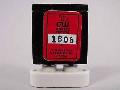 (1) C-W Crystals 1806 KHz / 1.806 MHz FT-241 Crystal for 160 Meters Ham Radio