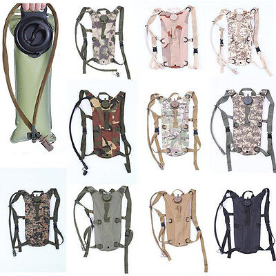 3L Water Bladder Bag Hydration Backpack Camelbak Pack Hiking Camping Cycling