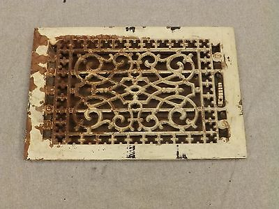 Antique Cast Iron Victorian Heat Grate Register Vent Old Vtg Hardware 615-16