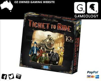 Ticket To Ride Board game 10th Anniversary