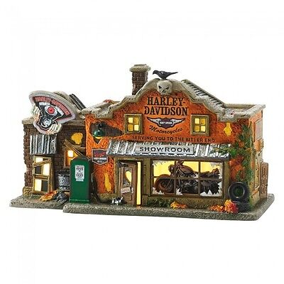 Dept 56 Halloween Village New 2016 HARLEY DAVIDSON'S LAST CHANCE GARAGE 4051011