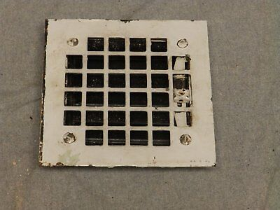 Small Antique Steel Heat Grate Register Vent Old Vtg Hardware 646-16