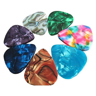 20x Multicolor Celluloid Acoustic Electric Guitar Picks Plectrums Thin 0.46mm