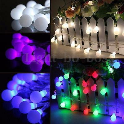 10m 100led ball kugel lichterkette weihnachten led kette. Black Bedroom Furniture Sets. Home Design Ideas