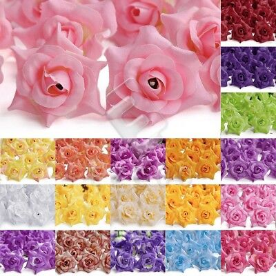 50pcs 50mm Curling Rose Artificial Flower Heads Wedding Fake Bridal Decoration