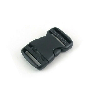 38mm Plastic Side Quick Release Buckle Clip – Cord Strap Backpack Bag RE Black