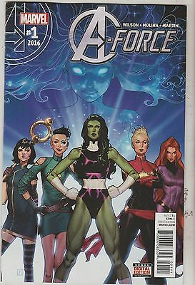 Marvel Comics A-Force #1 March 2016 1St Print Nm