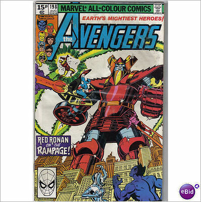 Marvel Comics Avengers #198 August 1980 VF
