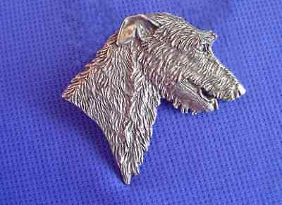 Scottish Deerhound Irish Wolfhound pewter pin #16F dog Jewelry b Cindy A. Conter