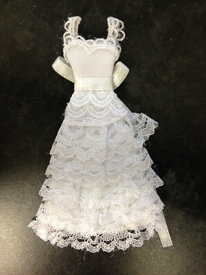 White Lace Wedding Gown Dress Card Making Scrapbooking Craft Embellishment
