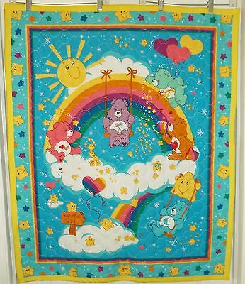 "New Handmade Care Bears Baby Quilt 41"" x 34 1/2"""