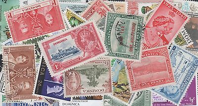 Dominica Stamp Collection -- 85 Different -- Top Quality