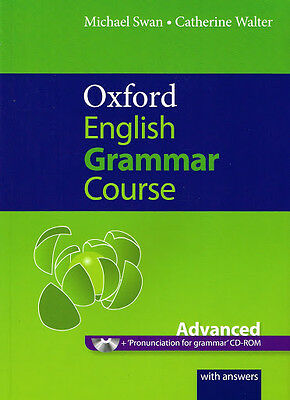 OXFORD ENGLISH GRAMMAR COURSE Advanced w Answers & CD-ROM | Swan & Walter @NEW@