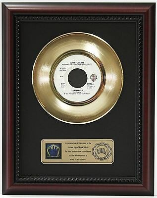 "John Fogerty Centerfield Gold Record Framed Cherrywood Display ""k1"""