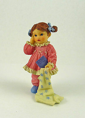 Dollhouse Miniature Resin Doll Peggy,with Blanket, 3098