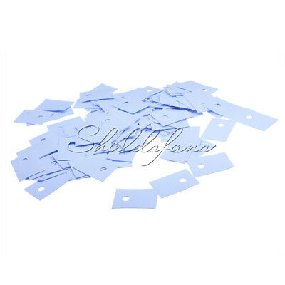 200PCS CPU GPU TO-220 Insulation Pads Silicone Heatsink Shim for Laptop S