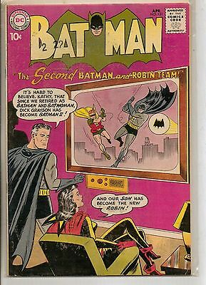 DC Comics Batman #131 April 1960 1st Batman & Robin II F+