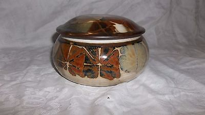 Rare Apple Lane Pottery Bill Nagengast Modernist  Dish with lid Signed