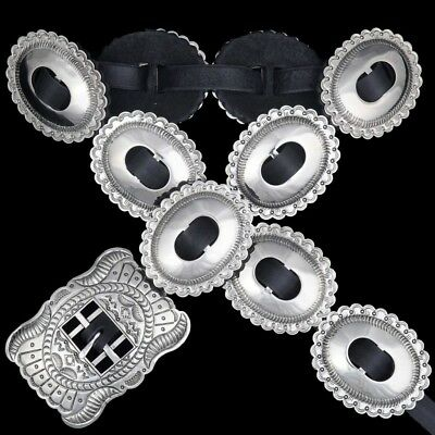Last ONE~Navajo Indian Silver First Phase HAND STAMPED Concho Belt byJoey McCray