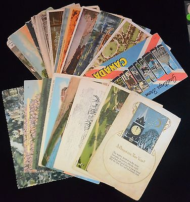 Antique & Vintage Lot of 25 Various Circulated POSTCARDS Early-Mid 1900s (#8)