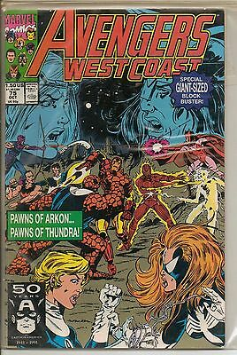 Marvel Comics Avengers West Coast #75 October 1991 Giant Sized F