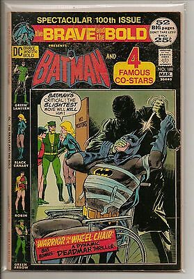 DC Comics Brave & Bold #100 March 1972 Batman & 4 Famous Stars Neal Adams VF+