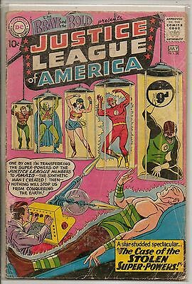 DC Comics Brave & Bold #30 July 1960 3rd Justice League Of America G