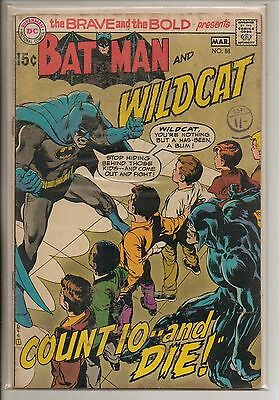 DC Comics Brave & Bold #88 March 1970 Batman & Wildcat F+