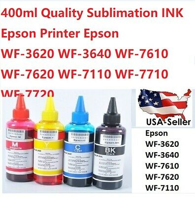 400 ml Sublimation Ink for Epson WF-3620 WF-3640 WF-7610 WF-7620 WF-7110 T252