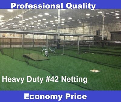 Baseball Batting Cage Net Netting #42 (54 ply)  HDPE 12' x 12' x 55' Heavy Duty