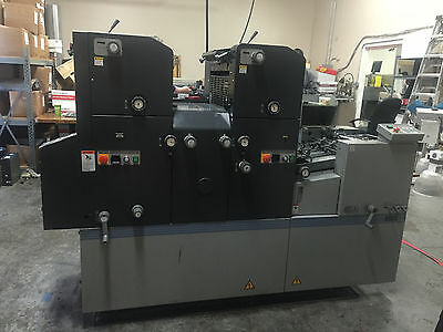 AB Dick 9995A - 2 Color Press in Great working Condition (See Video in action)