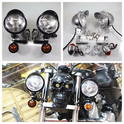 Motorcycle Turn Signal Driving Spot Fog lights Bar For Harley Touring Chopper