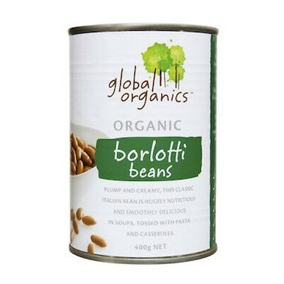 Global Organics Beans Borlotti Organic (canned) 400g