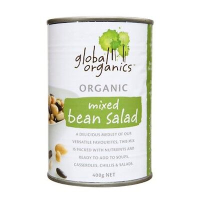 Global Organics Beans Mixed Bean Salad Organic (canned) 400g