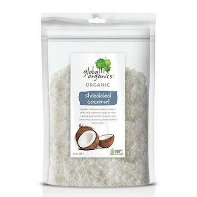 Global Organics Coconut Shredded Organic 250g