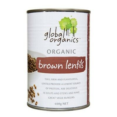 Global Organics Lentils Brown Organic (canned) 400g