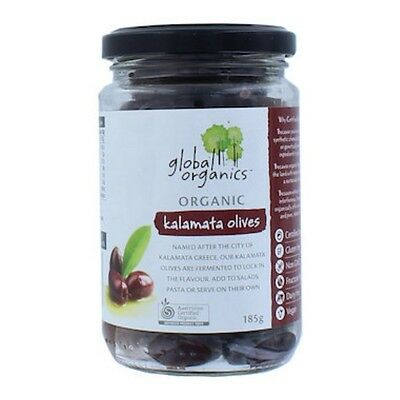 Global Organics Olives Kalamata Whole Organic 185g