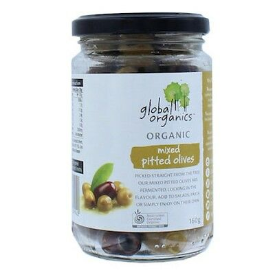 Global Organics Olives Mixed Pitted Organic 160g