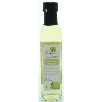 Global Organics Vinegar White Wine Organic 250mL