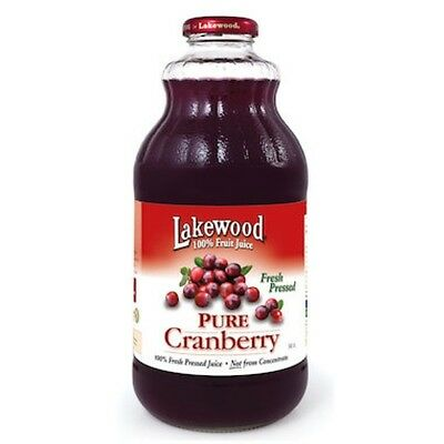 Lakewood Cranberry Juice Pure 946mL - SHIPS TODAY!